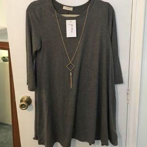 Pinc Premium Dresses & Skirts - NWT super cute pinc midi swing dress in gray XL
