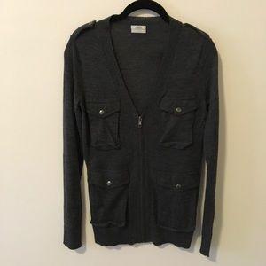 Madewell Sweaters - Wallace Madewell Wool Cargo Zip Up Sweater