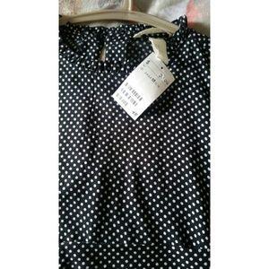 H and m. Polka dot long sleeve dress.