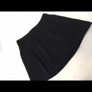Zara Basic black skater skirt