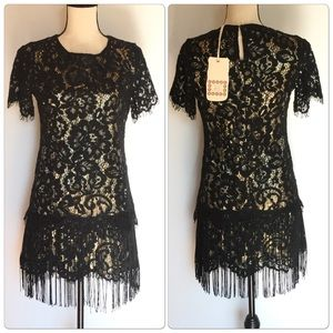 Chelsea & Violet Dresses & Skirts - Gorgeous Black and gold lace dress