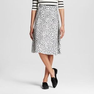 Polka dot a-line skirt by Who What Wear