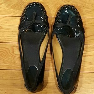 Navy patent leather Kate spade flats
