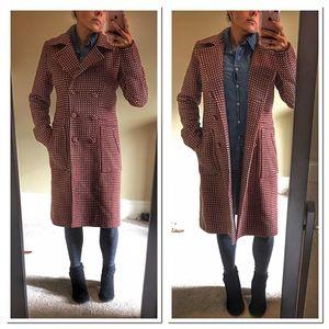Ben Sherman long pea coat size small wool