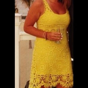 Yellow Lace Dress- perfect for wedding season!