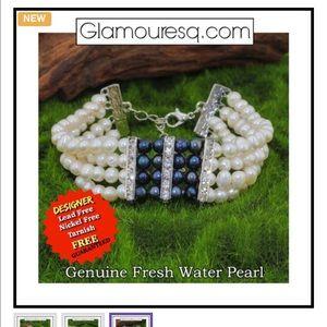 Jewelry - Beautiful 2 Tone Freshwater Pearl Bracelet