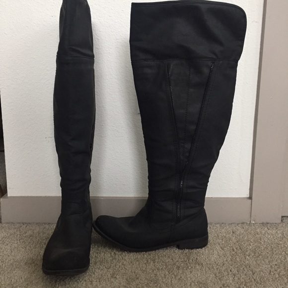 1716be8fc60 ... THIS ITEM IS SOLD! Torrid black over the knee boots.  M 588129fc4225be7e2b016e6d