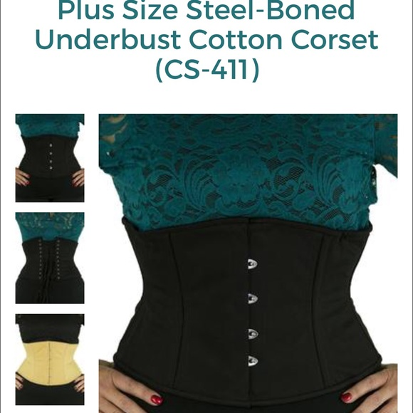 714e122399c Orchard Corset Steel-Boned CS - 411 black cotton. M 58812a189c6fcfd6e5025a74