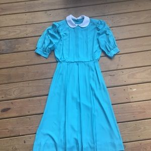 Vintage Dresses & Skirts - ⚡️Final Price⚡️Teal Adorable Pleated Vintage Dress