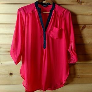 A. Byer Tops - A. Byer Bright Red Blouse