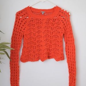Charlotte Russe Tops - Blood Orange Knit Sweater