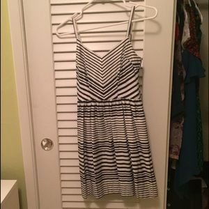 Navy and White Striped Dress by Bar III XS