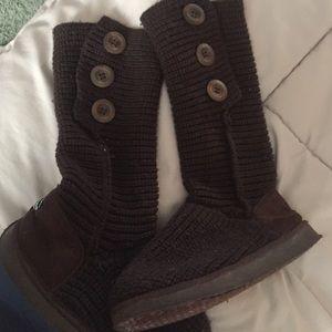 alpine swiss Shoes - Brown sweater boots- Swiss Alpine brand