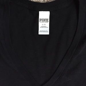PINK Victoria's Secret Tops - Black short sleeve vneck tshirt