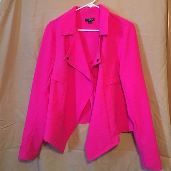 33% off torrid Jackets & Blazers - Torrid Hot Pink Jacket from ...