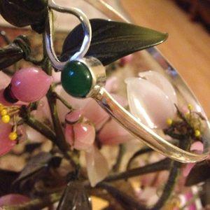 Vintage 925 jade bracelet