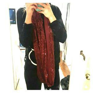 Maroon charming charlie scarf