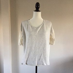 Dolan by Anthropologie lace sleeve shirt