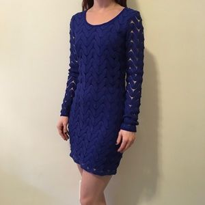 Free People Dresses & Skirts - NWT FREE PEOPLE Cobalt Knit Long Sleeve Dress