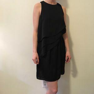 Zara Black Asymmetrical Sleeveless Tiered Dress