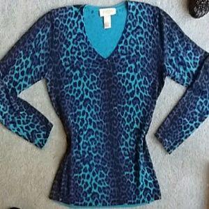 Peck & Peck Leopard Sweater!