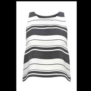 Whistles Tops - Whistles crop stripe top, size 00-0