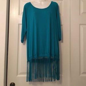 Brand new with tags fringe tunic top boutique
