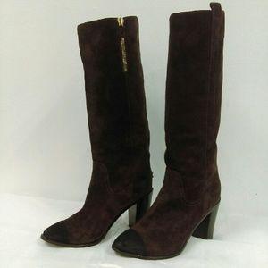 Authentic Chanel Purple Suede Boots Sz. 36