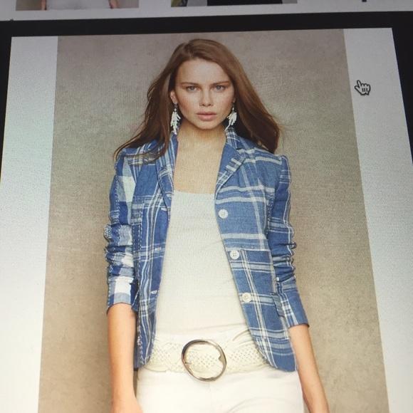 c11521016a Ralph Lauren Blue label Patchwork linen jacket. M 588147e956b2d6a65501da90