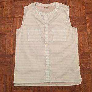 Womens Gap Sleeveless Striped Button-Up Top Medium
