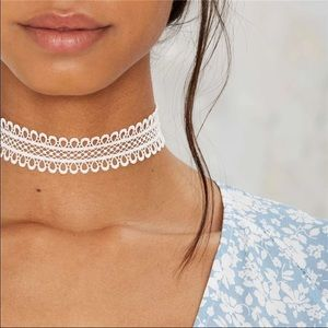 COMING SOON! White lace choker necklace