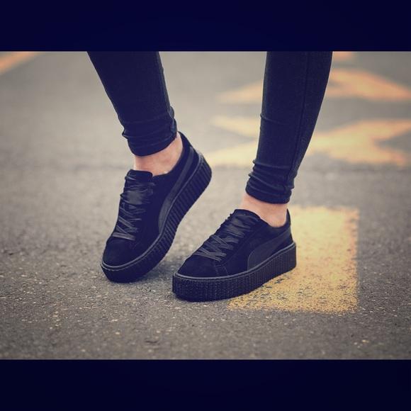 puma blue velvet shoes
