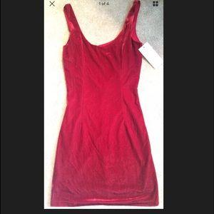 NWT Tobi velour red dress