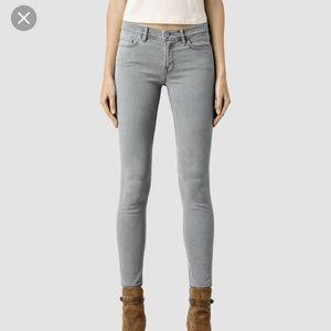 Amazing condition light all saints Mast jeans