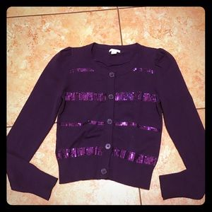 Other - Sequined Button Up Sweater