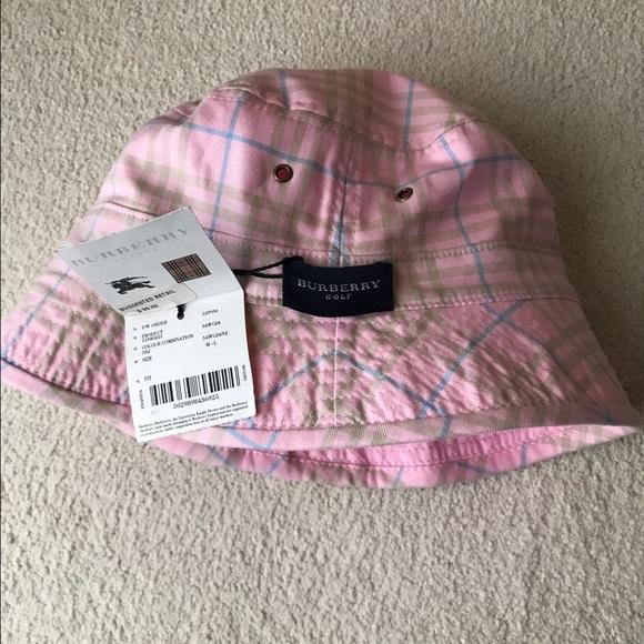 Adorable Pink Burberry Bucket Hat 8fc74458425