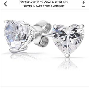 Swarovski Jewelry - Swarovski Sterling Silver Heart Studs ❤️