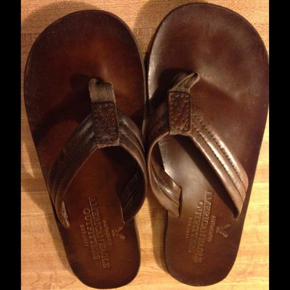 American Eagle Mens Leather Flip Flops
