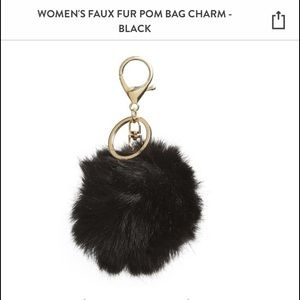 Black Poof Keychain