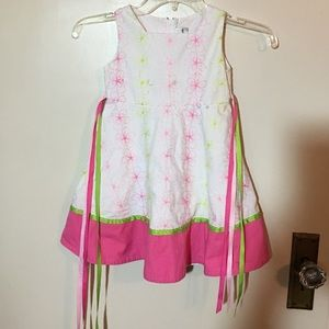 Rare Editions Other - TODDLER 4T PINK AND WHITE PARTY DRESS