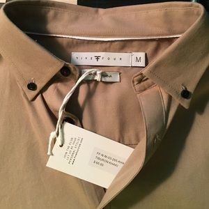 Men's Medium Five Four Khaki Button Down