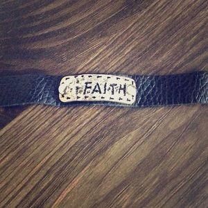 ❤️ 5 for $25 Sale - Faux Leather Faith Bracelet