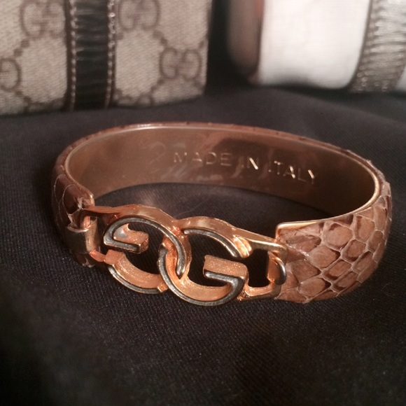 8ef189940 Gucci Jewelry | Salevintage Snake Skin Gold Bangle | Poshmark