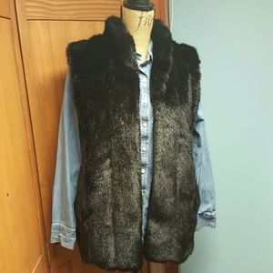Fabulous Furs Jackets & Blazers - Winter Clearance!! BLACK SIGNATURE FAUX FUR VEST