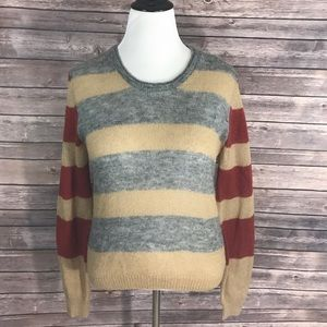 Thakoon Sweaters - Thakoon Addition Lg Sweater Striped Mohair Blend