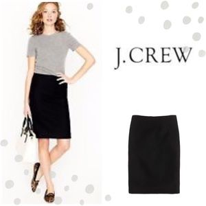 J. Crew Dresses & Skirts - J. Crew No. 2 wool pencil skirt in black