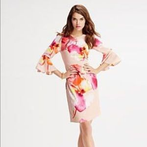 The limited bell sleeve floral dress