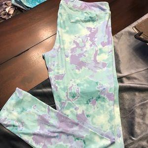 Authentic Original Vintage Style Pants - 💥NWOT💥Tye-Dye purple and mint leggings