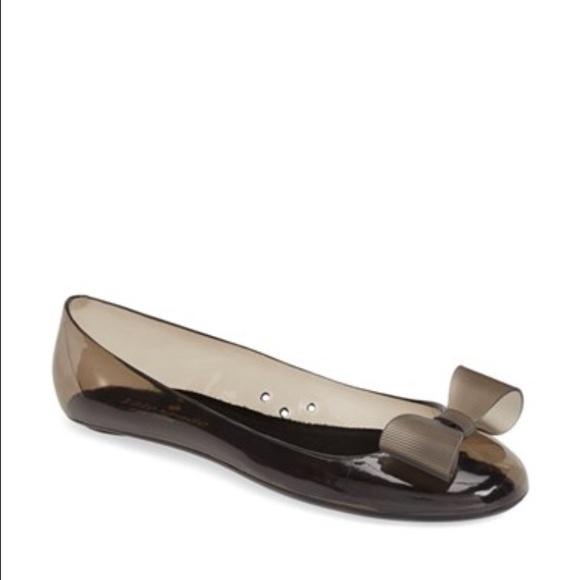ac6b5dd497b kate spade Shoes - KATE SPADE Jove Jelly ballet flats black PVC 8