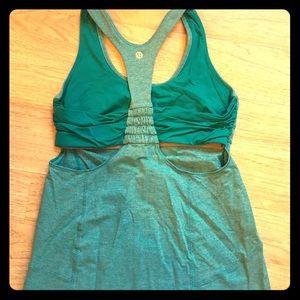 lululemon athletica Tops - Heathered Blue lululemon Tone It Tank size 8